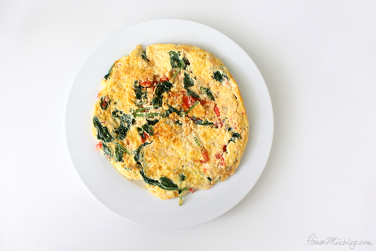 Sneak spinach into your diet in an omlet
