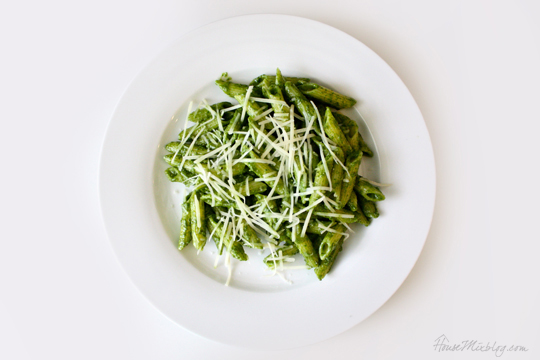 Sneak spinach into your diet in pesto pasta