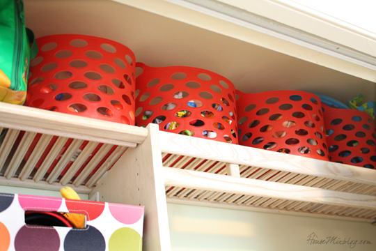 Keep kids toys sorted up high and take them out one at a time
