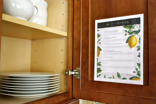 Pretty Printable Daily Cleaning List House Mix