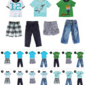 Toddler mix and match outfit pieces