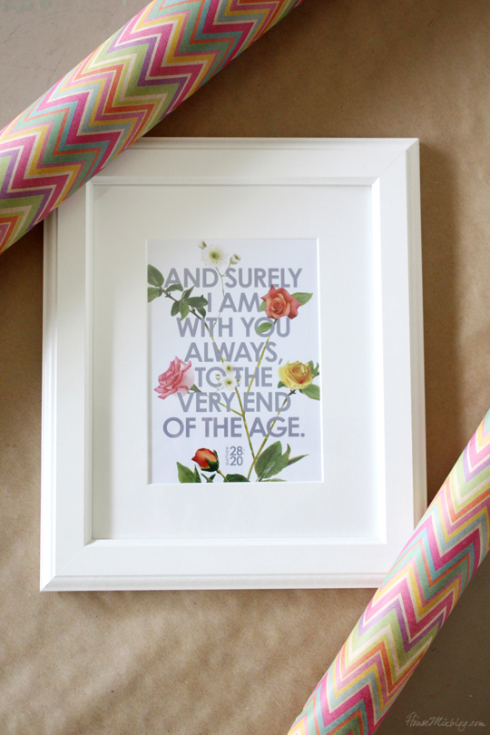 Free printable gift. All you need is a frame.