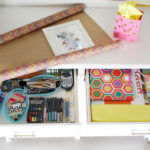DIY gifts and gift wrap/art station