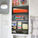 Home office drawer organizer