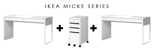 Ikea micke series idea
