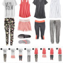 casual wear - pjs that can pass for clothes - gray and coral