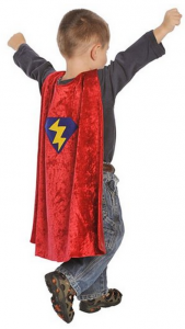 Boys super hero cape - three year old gift ideas