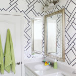 Stenciling and kids bath makeover