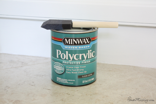 Polycrylic protective finish for kitchen cabinets and furniture