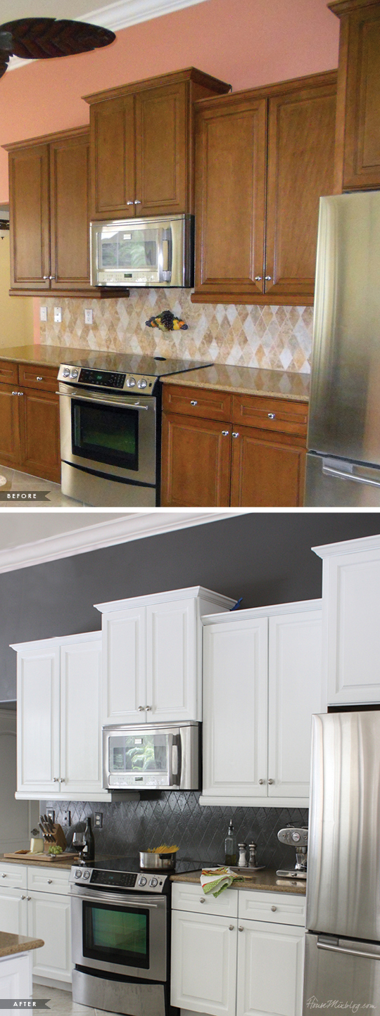 Painted Kitchen Cabinets And Tile Backsplash A Year