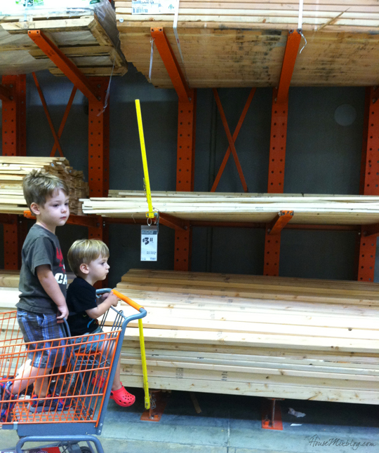 Wood shopping for kid art wall