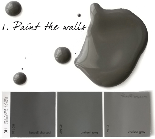 best charcoal gray paint color benjamin moore kendall charcoal