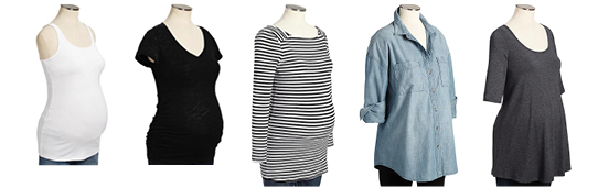 Affordable maternity tops