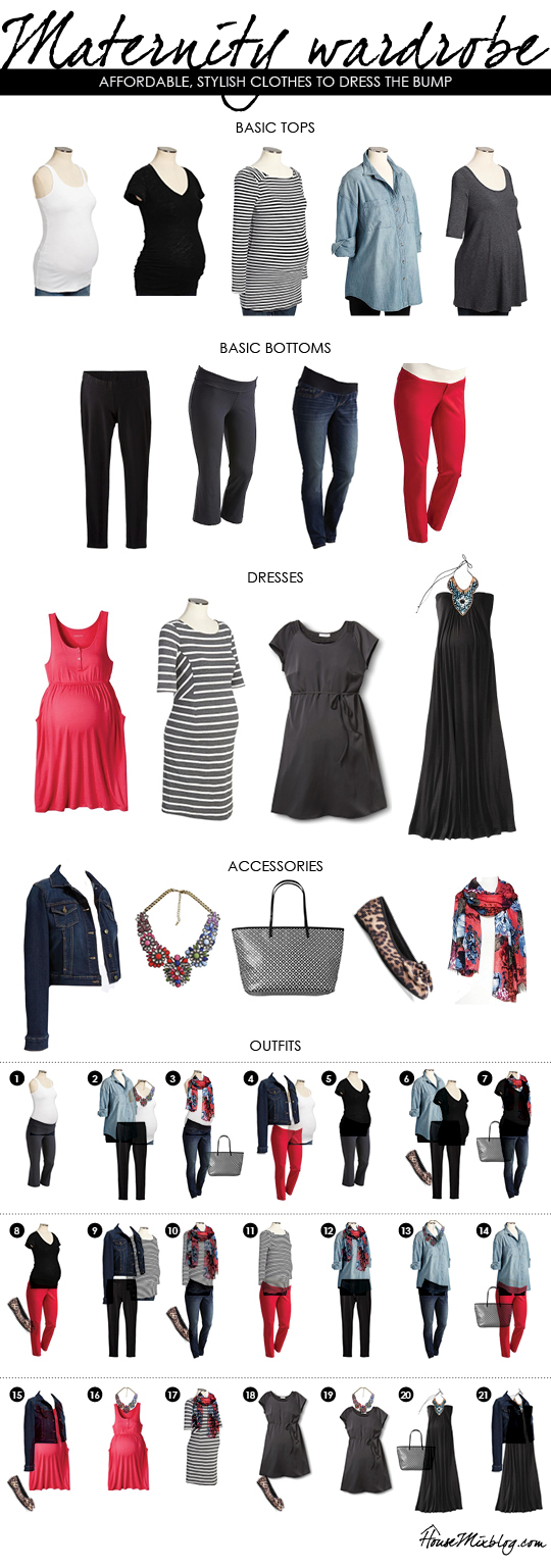 An affordable maternity wardrobe