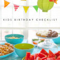 Kids birthday party planning and printable checklist