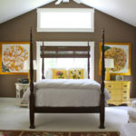 Country House: Brown and yellow master bedroom
