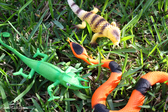 Favorite dollar store buys - plastic toy animals