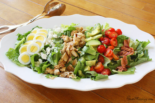 Cob salad recipe with simple lemon dressing