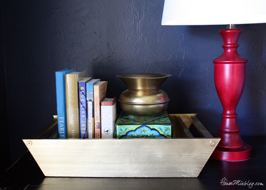 Give old items new life with gold spray paint