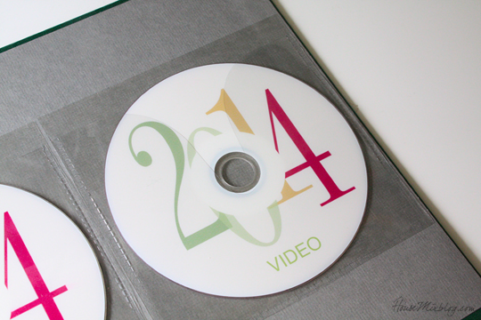 Store backup DVDs of photos and videos in the back of yearly photo books