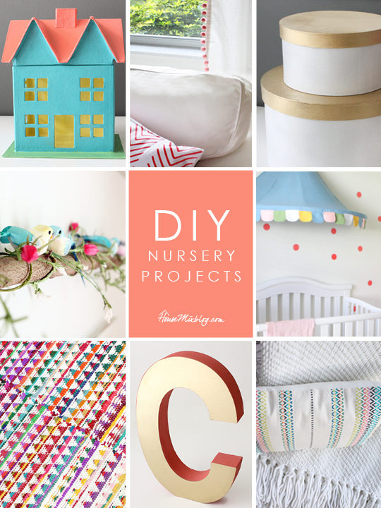 DIY nursery projects for baby girls room