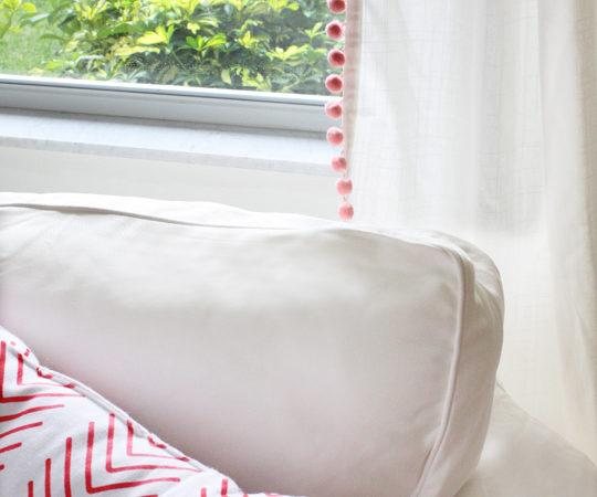 How to make pom pom curtains