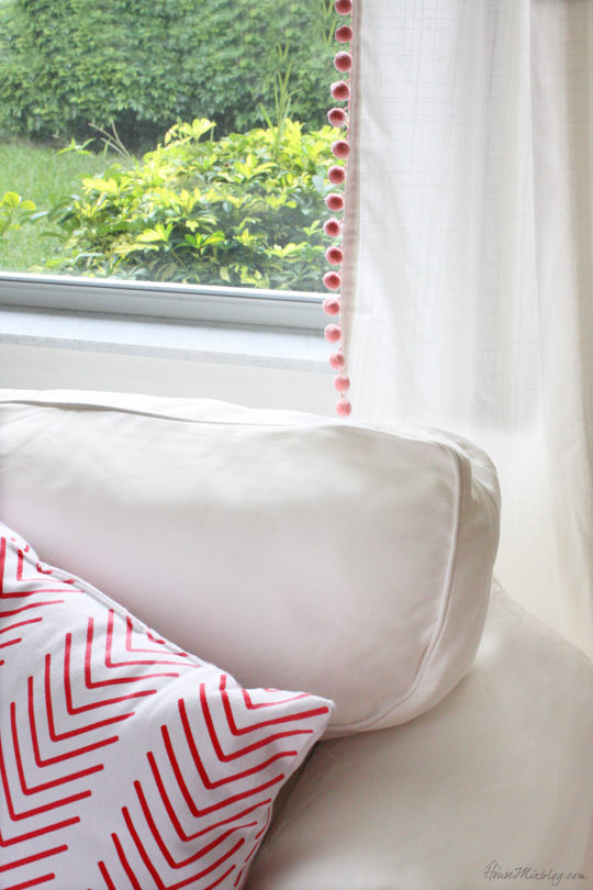 How to make pom pom curtains