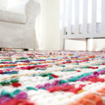 Sew small rugs into one big rug