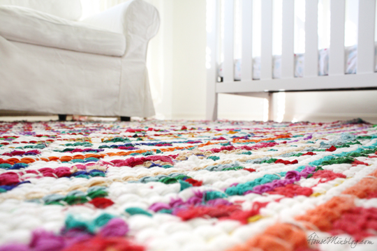 How to sew small rugs into one big rug