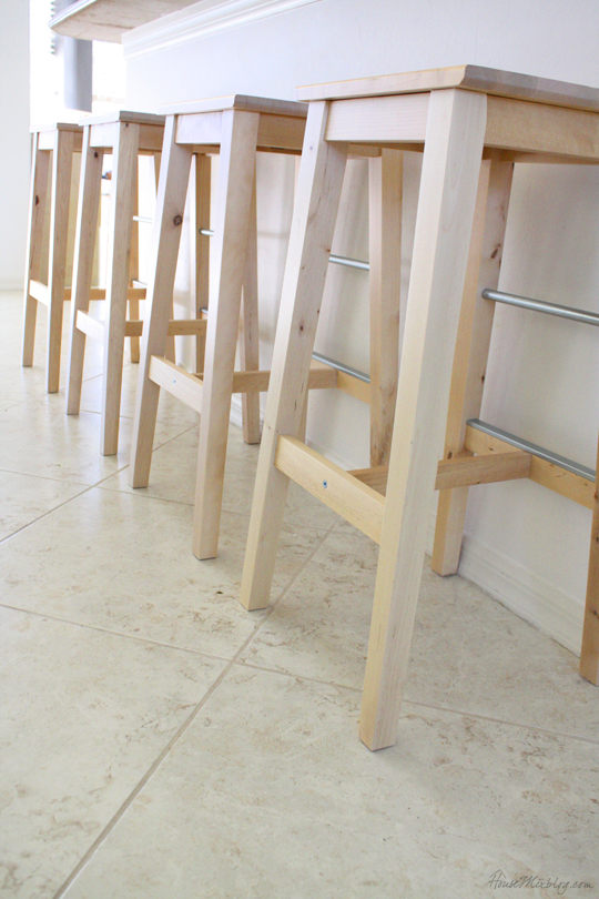Ikea birch BOSSE bar stool