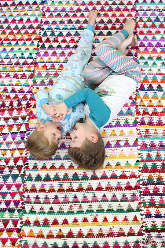 Kid tested small rugs sewn into one