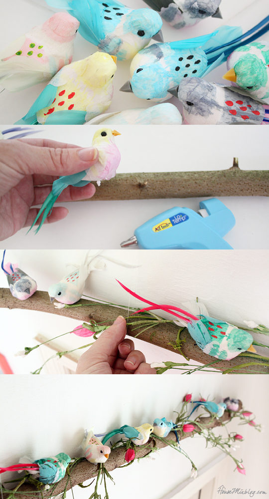 Nursery projects - birdies on a branch
