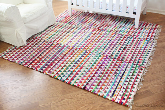 Small Colorful Rugs Sewn Together For One Large Rug In Nursery