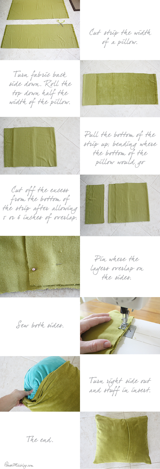 Easy DIY envelope pillow