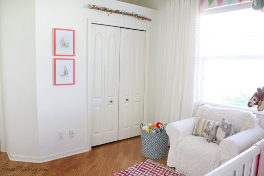 White walls in nursery