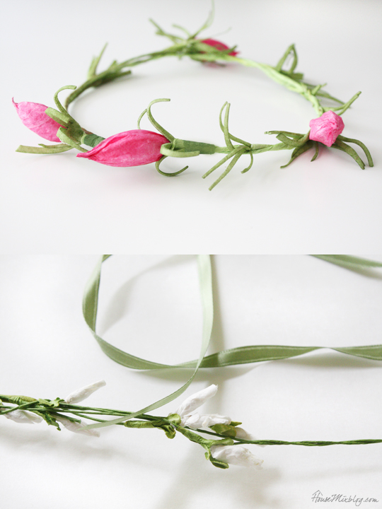 DIY newborn floral crown photo props