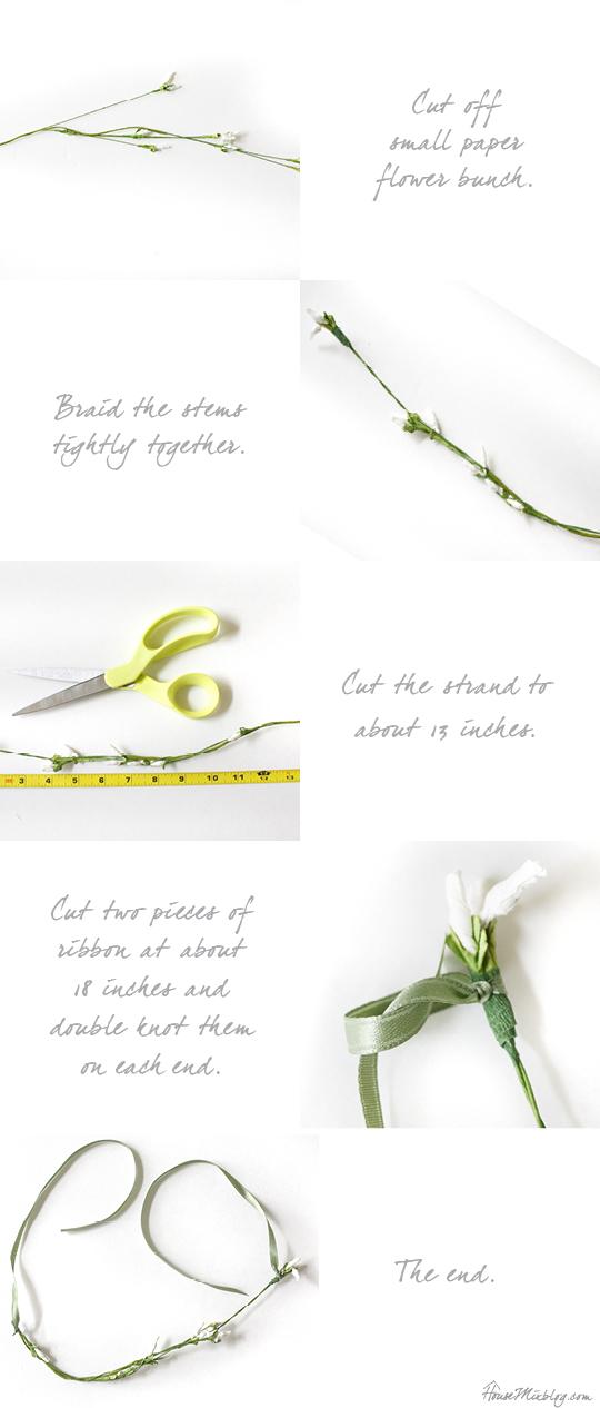 How to make a newborn floral crown photo prop