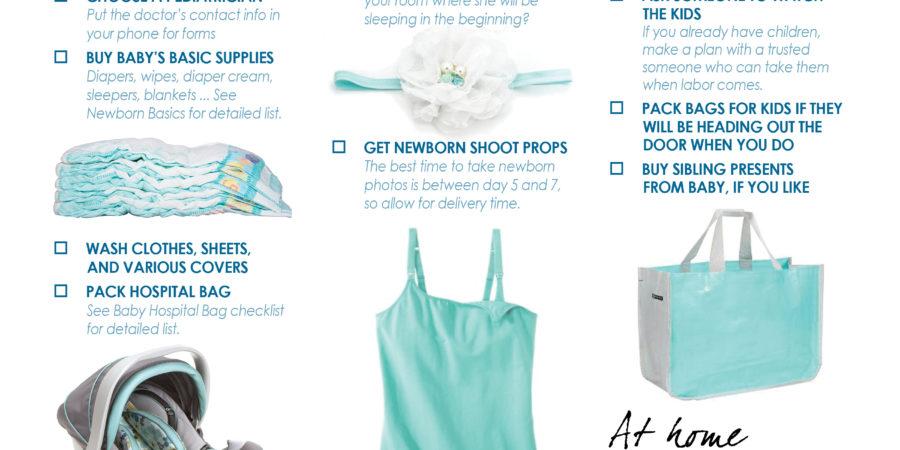 Third trimester checklist printable