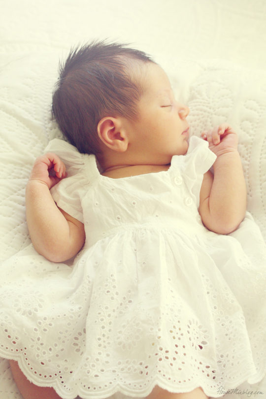 Newborn girl photo shoot