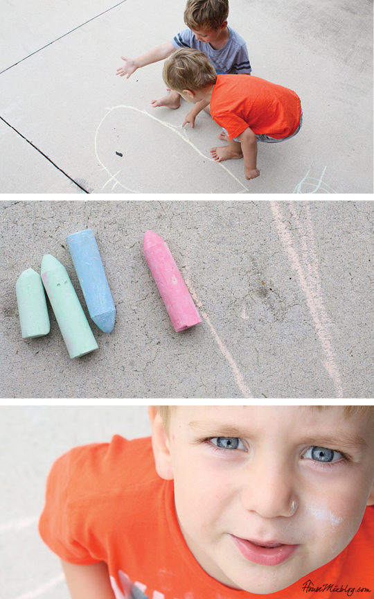 A month of outdoor activities - sidewalk chalk