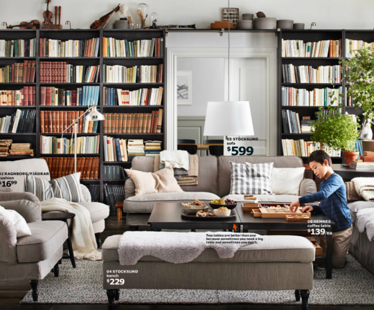 Ikea catalog 2016 - book shelf styling