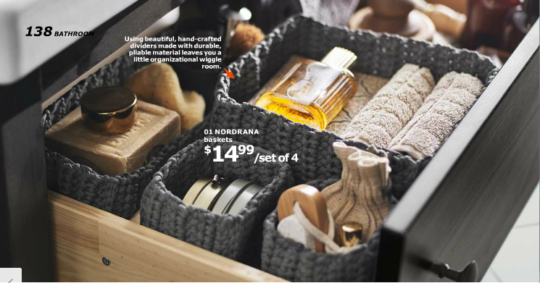 Ikea catalog 2016 - knit drawer dividers