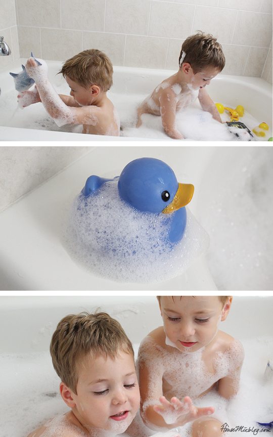 One month of easy indoor activities for kids - bubble bath
