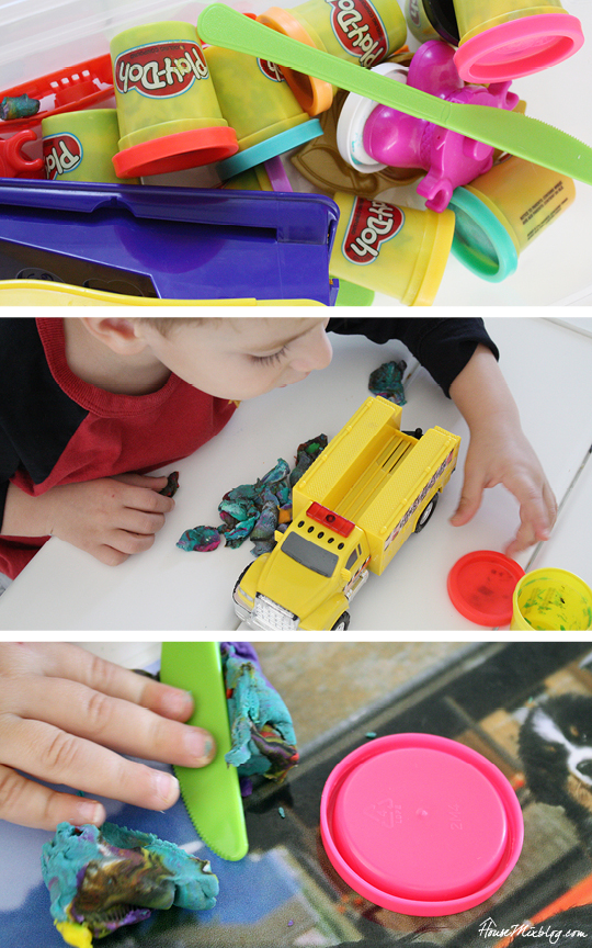 One month of easy indoor activities for kids - play-doh