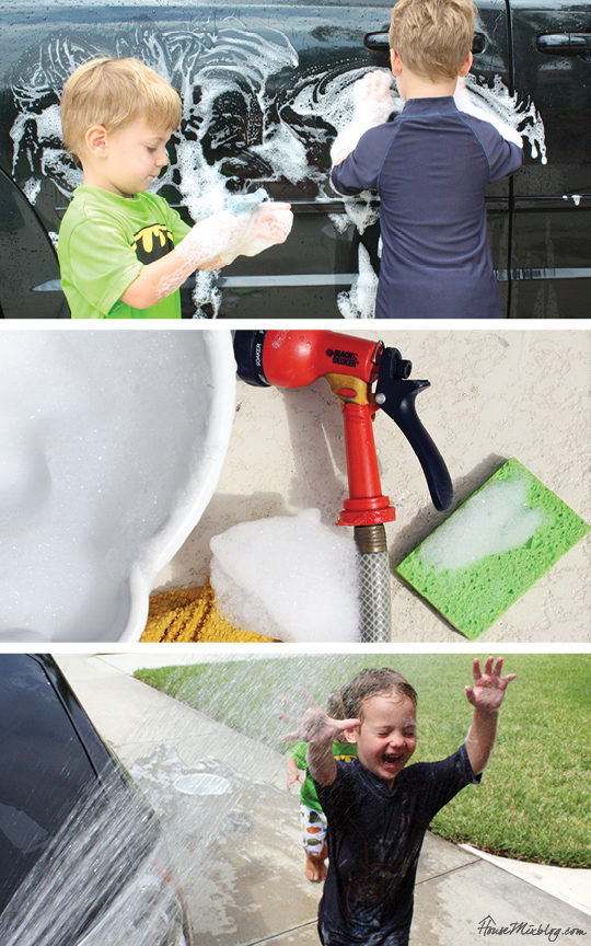 A month of outdoor activities - Wash the car