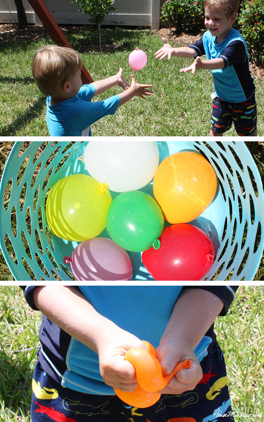 A month of outdoor activities - water balloon fun