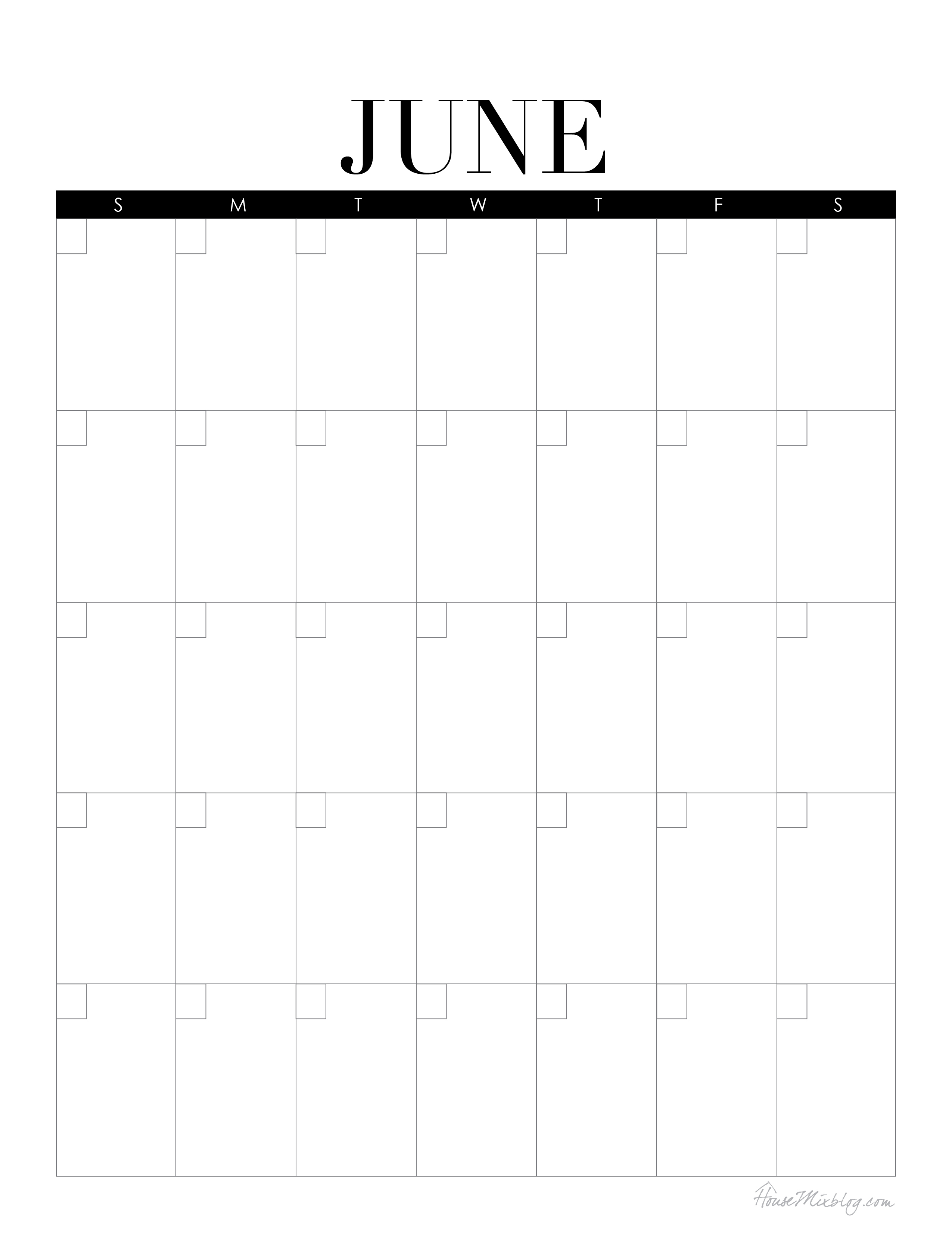 Calendarlabs June : Mini command center with printables house mix