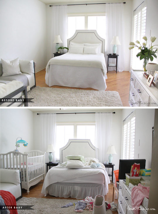 master bedroom before and after baby