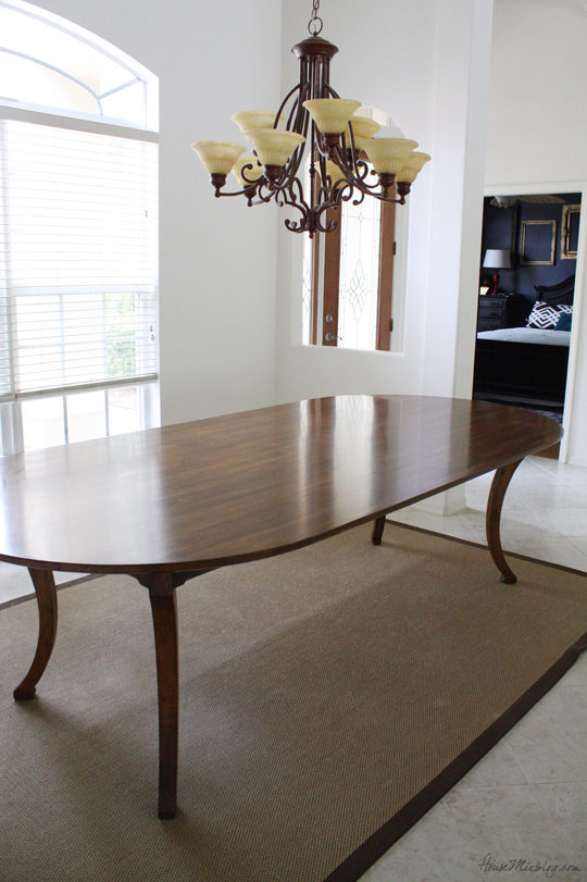 Dark wood dining room table that seats 8