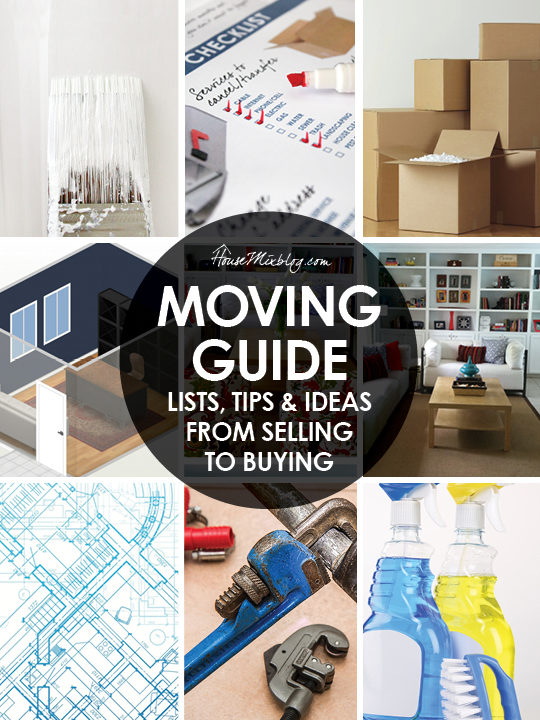 Moving Guide - Lists, tips and ideas from selling your old house to buying a new one